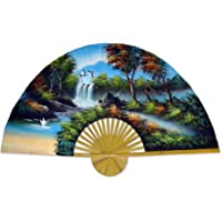 Large 60 Folding Wall Fan -- Japanese Autumn -- Original Hand-painted