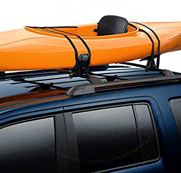 Universal J-Type Kayak Carrier Canoe Roof top Rack Black Mounted For Toyota
