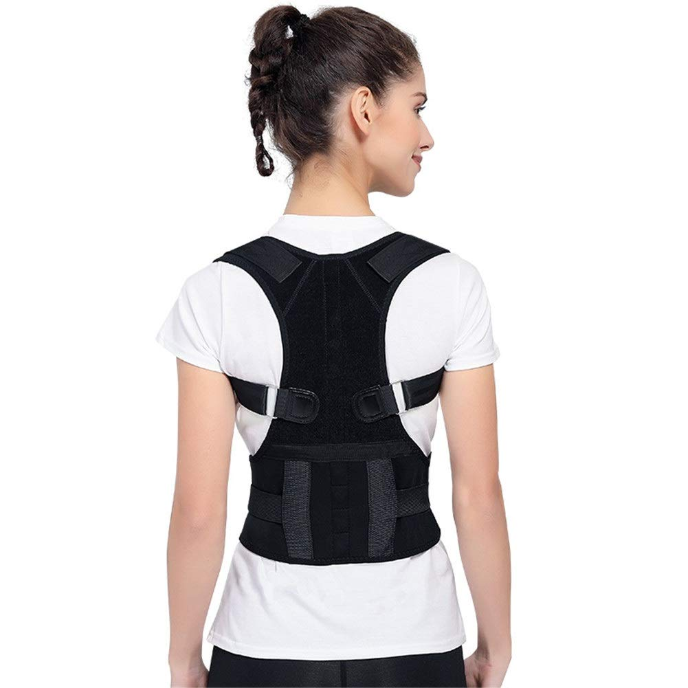 Corrector de postura Posture Corrector, Shape The Perfect Body Physical Therapy Support Brace for Back Shoulder Neck Pain Relief Clavicle (Size : L90-110cm)