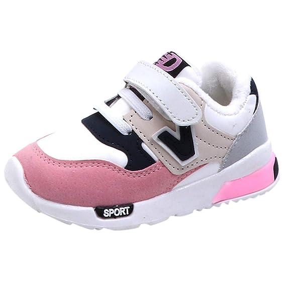 52210d635 YanHoo Zapatos para niños y niñas además de algodón Engrosado otoño e  Invierno Calzado Deportivo Transpirable Zapatillas Antideslizantes  Zapatillas de ...