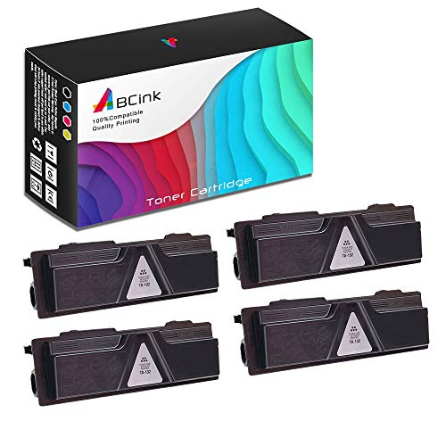 ABCink Compatible Toner Cartridge Replacements for Kyocera TK-142,for use in Kyocera FS-1100,4000 Yields(4 Pack,Black)