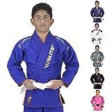 Elite Sports IBJJF Ultra Light BJJ Brazilian Jiu Jitsu Gi For Kids w/Preshrunk Fabric & Free Belt