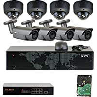 GW Security 8 Channel NVR 4 x Motorized + 4 x 2.8~12mm IR Lens PoE Security System 4T HD