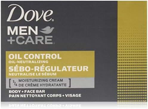 Dove Men+Care Body and Face Bar, Oil Control 4 Ounce, 6 Bar