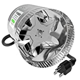 VIVOSUN 6 inch Inline Duct Booster Fan 240 CFM, Extreme Low Noise & Extra Long 5.5' Grounded Power Cord