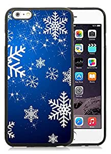 Provide Personalized Customized iPhone 6 Plus Case,Christmas Snowflake Black iPhone 6 Plus 5.5 TPU Case 13