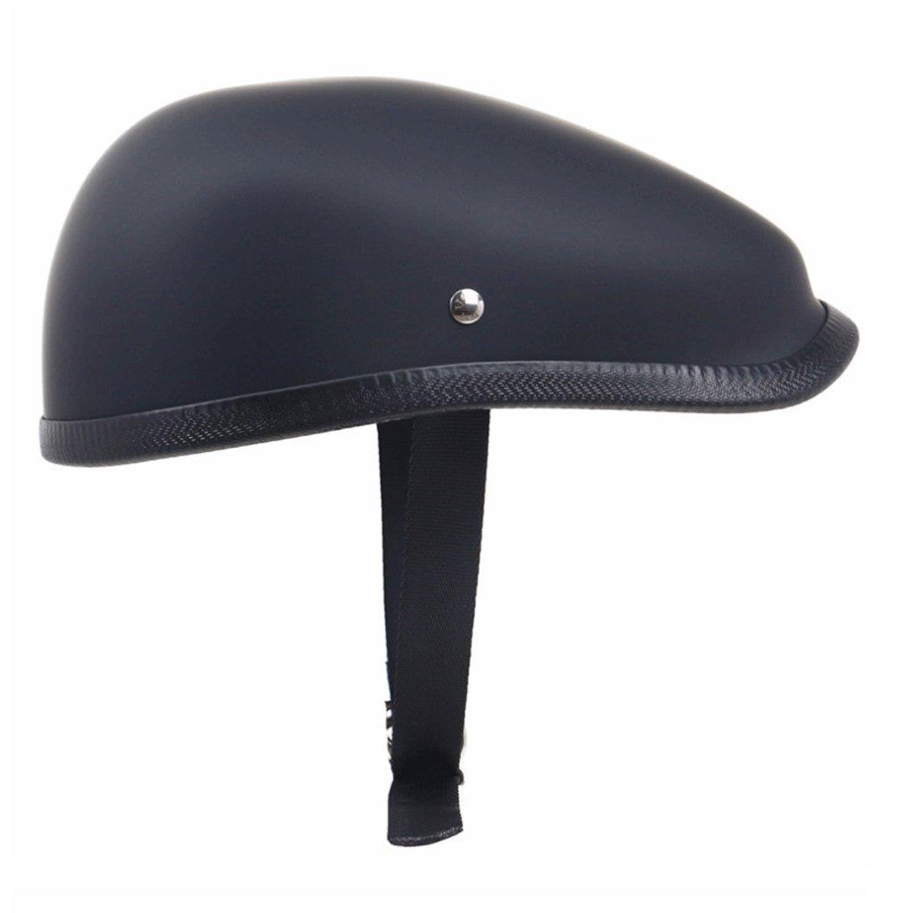 DGF ヘルメットFRPベレーレトロバイクトラムバイクレクリエーションレトロ機関車スケートローラースケートヘルメットヘルメット (色 : Matt black, サイズ さいず : XXL) B07FNQZ6HJ XX-Large Matt black Matt black XX-Large