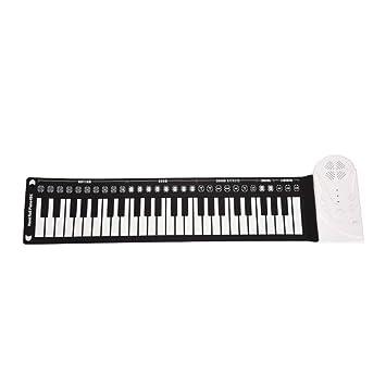 ... enrollable Música digital electrónica Teclado de piano Diseño portátil con grabación Funciones de reproducción 16 tonos 10 ritmos 6 ca: Amazon.es: Hogar