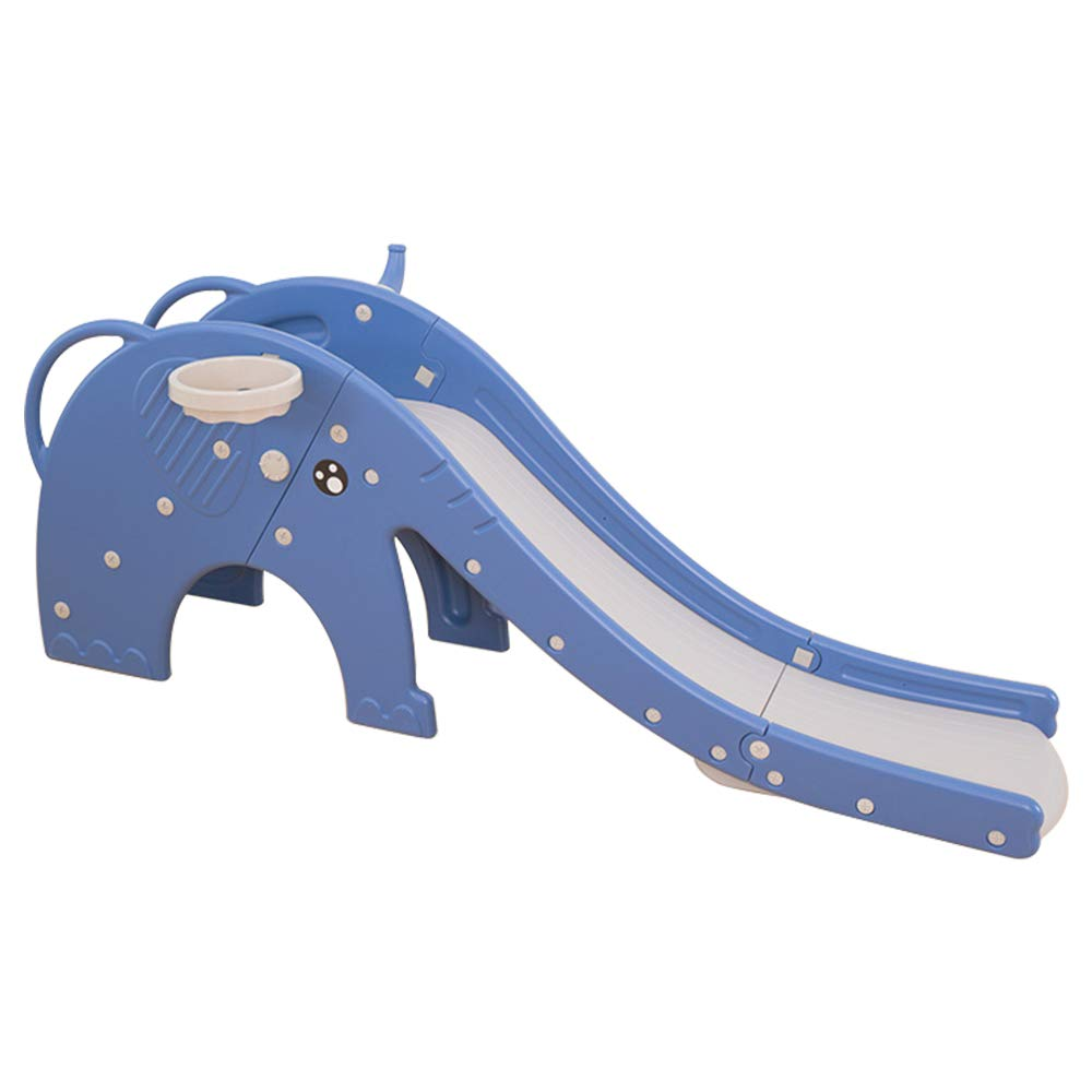 Foldable Toddler Slide,FOME Children Slides and Climbers Indoor Slide Kids Play Slide Easy Assembly with Full Closed Pedal Built-in Inductive Music Perfect for Baby 0-4 Years Old
