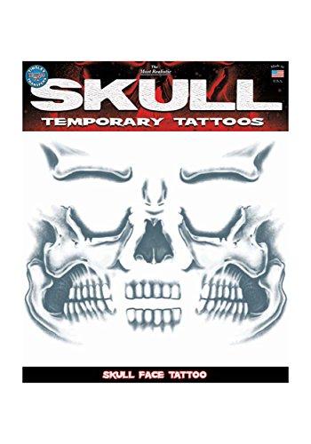 Makeup Skull Face (Tinsley Transfers  Skull Face, Flesh/Multi, One Size)