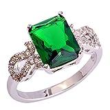 PSEZY Mystic Rainbow Topaz Amethyst rings for Women Vintage Engagement Rings Promise Rings MAE564-B564 9.0