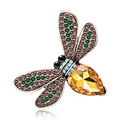 Rhinestone Studded Shiny Bee Brooch