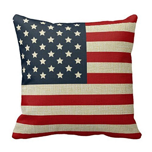 Cateyes Cotton Linen Patriotic American Flag Red White Blue