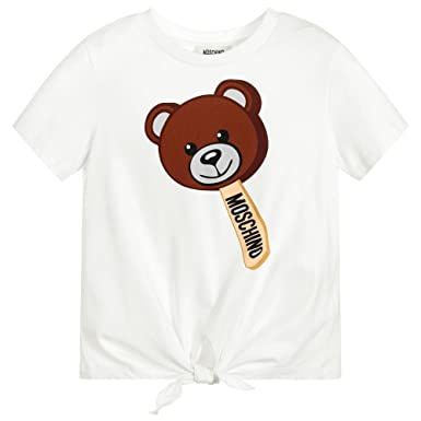 db2f66917016ea Moschino T-Shirt Bianca con Orsacchiotto: Amazon.co.uk: Clothing