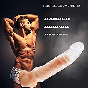 2018 Jackson(US) hgbgbgb76-as Penis Enlarger Sleeve for Male - Silica Gel Super Soft Non-Toxic (Clear)