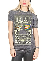 T Shirt Carnegie Hall Official Womens Grey Junior Fit Burnout