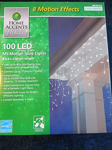 Home Accents Holiday Led Cool White Icicle Lights