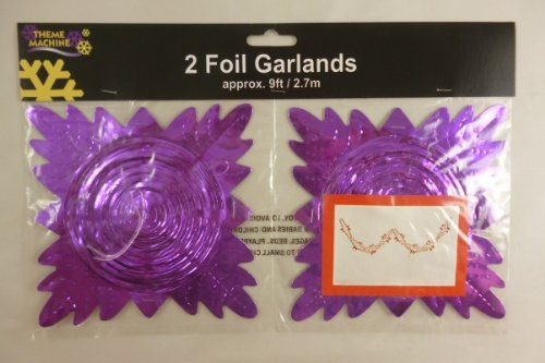 9ft Purple Foil Garland Christmas Decoration - Pack Of 2 - 9ft x ()