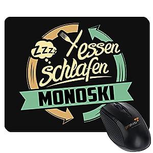 getshirts - RAHMENLOS® Geschenke - Mousepad - Sport Monoski - schwarz uni