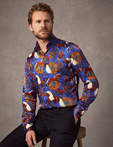HAWES & CURTIS - Camisa de satén para Hombre, diseño de ...