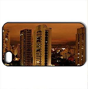 architecture - Case Cover for iPhone 4 and 4s (Modern Series, Watercolor style, Black)