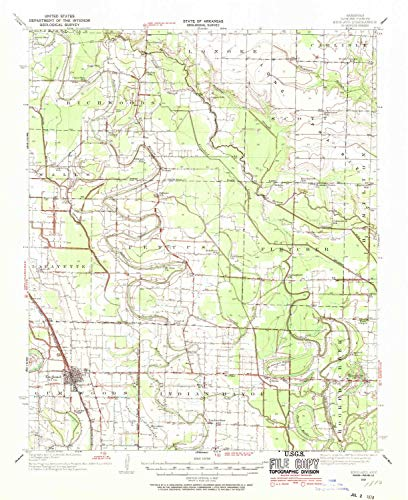 YellowMaps England AR topo map, 1:62500 Scale, 15 X 15 Minute, Historical, 1937, Updated 1970, 20.8 x 16.9 in - Paper (Culler Lake)