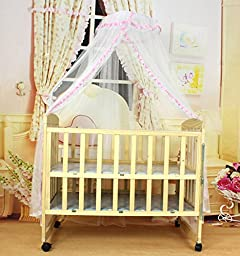 Pesp® Baby Breathable Mosquito Net Toddler Bed Dome Canopy Netting Lace Décor (Pink)