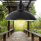 Solar Powered Pot Lid Pendant Light, E26 Base