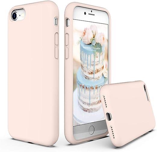 SURPHY Coque en silicone compatible avec iPhone SE 2020, iPhone 8, iPhone 7, coque de téléphone en silicone liquide (avec doublure en microfibre) pour ...