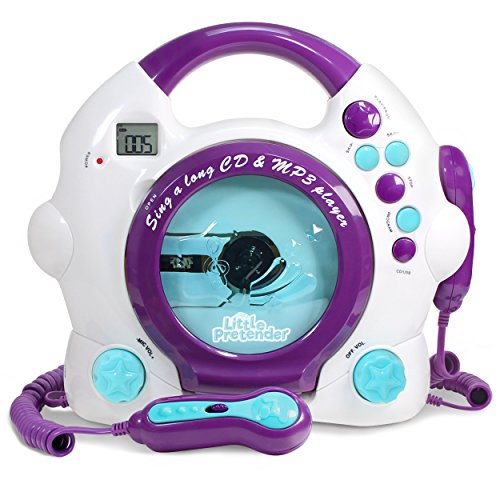 Kids Karaoke Machine - CD & MP3 Player Sing-A-Long Music Player With 2 Microphones (Player Cd Sing Along Kids)