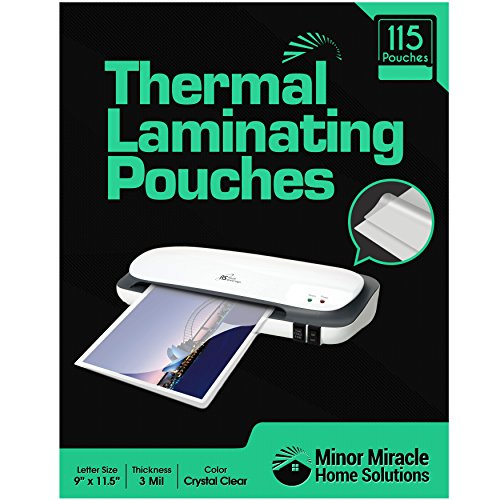 115 Thermal Laminating Sheets Pouches (3 mil letter size, 9