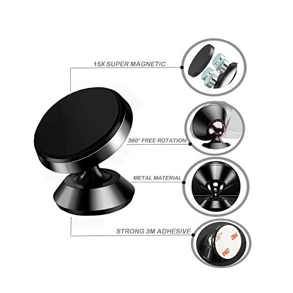 Magnetic Car Mount Holder 360 Rotation Smartphone Holder For CarUniversal Dashboard MountHands Free Phone Mount Cell Phone Holder For IPhone 7 8 Plus X Samsung Galaxy S8 S7