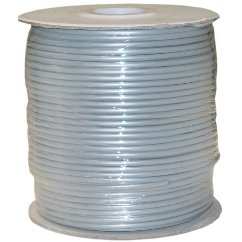 Key Voicemail (Bulk Phone Cord, Silver Satin, 28/4 (28 AWG 4 Conductor), Spool, 1000 foot)