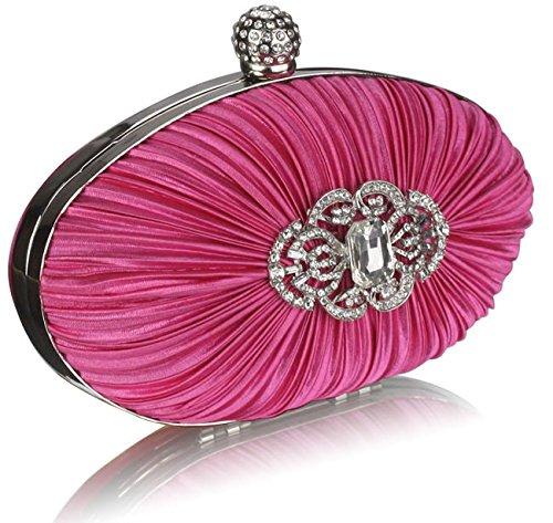 Luxury Hard With Evening 1 Case Womens Bag Designer New Clutch Handbag Diamante Chain Ladies Pink Design r06dPrxw