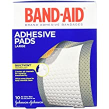 Band-Aid Brand Adhesive Bandages, Large Adhesive Pads, 10-Count Bandages (Pack...