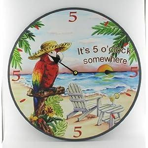 517V2c-mDpL._SS300_ Coastal Wall Clocks & Beach Wall Clocks