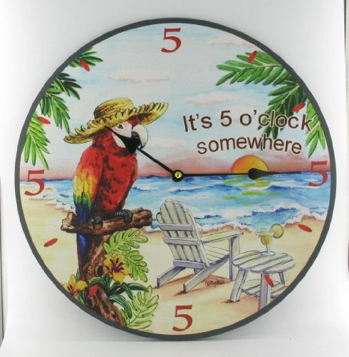 517V2c-mDpL The Best Beach Wall Clocks You Can Buy