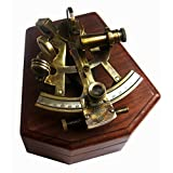 Brass Nautical Brass Sextant Nautical Navigation Instruments in Hardwood Box