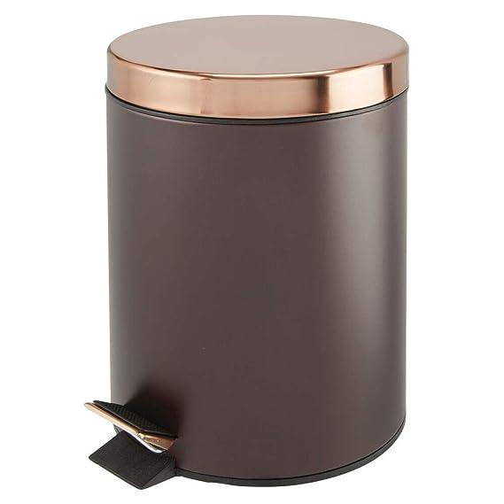 Amazon.com: MDesign - Cubo de basura redondo de 5 litros ...