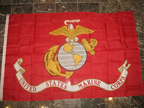 4X6 Usmc Marine Marines Nylon Poly Flag 4'X6' House Banner by Decorative Flag