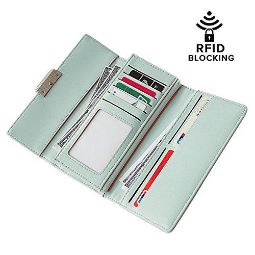 Amazon.com: Billetera para mujer RFID con protector y ...