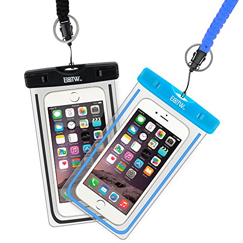 EOTW Waterproof Case Dry Bag Cell Phone Pouch With Military Lanyard For Kayaking Skiing Boating Surfing For iPhone 6 6S Plus SE Samsung Galaxy S8 S7 S6, Note 5 4, Moto G4 G5, Google Pixel 2 Pack