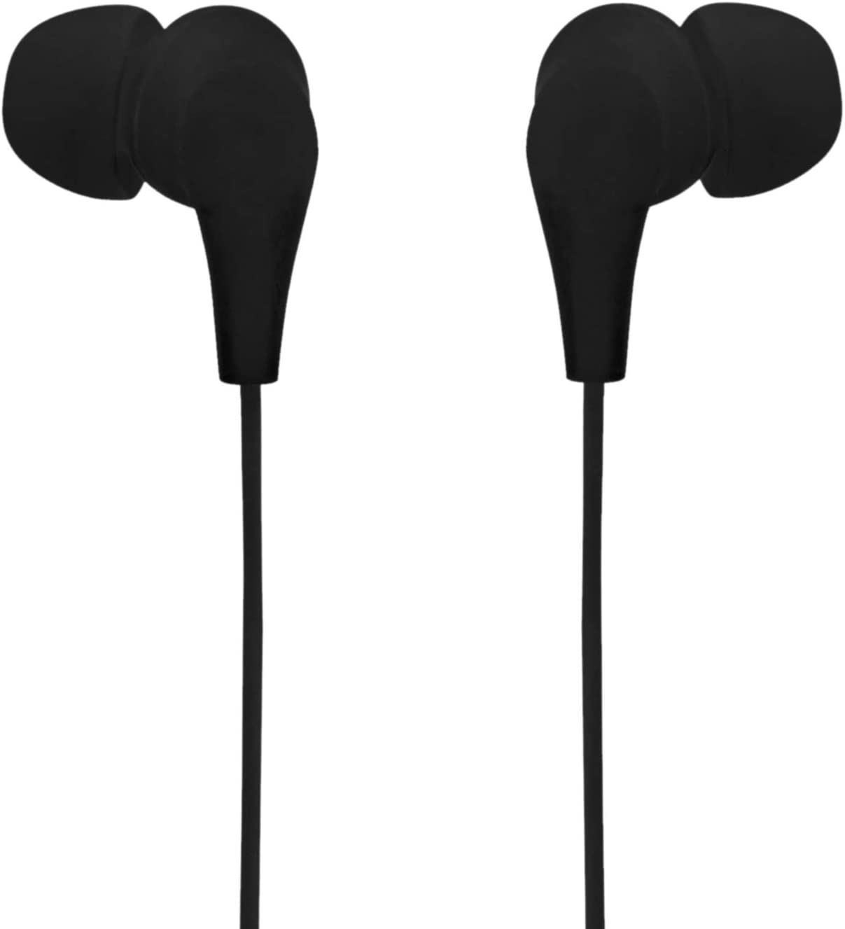 Axilleo S-02 in-Ear Wired Earphone/Earbuds with Microphone | Noise Cancelling Headphones with 3.5mm Jack for iPhone, Laptop, Computer, Apple, iPad, PC (Black)