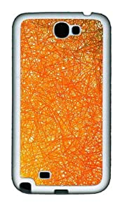 Abstract Line Personalized Custom Design Samsung Galaxy Note 2/Note II/N7100 - PC Hard - White