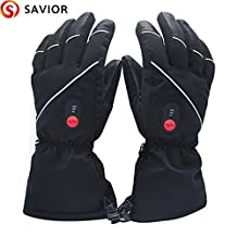Savior Heated Gloves with Rechargeable Li-ion Battery Heated for Men and Women, Touchscreen Waterproof Warm Gloves for Cycling Motorcycle Hiking Skiing Mountaineering,works up to 2.5-6 hours …