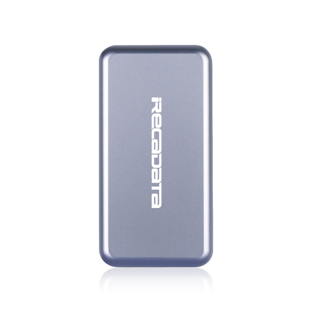 iRecadata M30 Portable SSD, 64G Mini External Solid State Drive with Encryption Function, USB 3.0, mSATA III MLC SSD Built-in, Grey by iRecadata