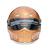 CRG Sports ATV Motocross Motorcycle Scooter Full-Face Fiberglass Helmet DOT Certified ATV-1 - Parent (Medium, Gold)
