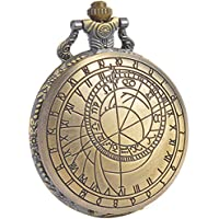 SIBOSUN Doctor Who Pocket Watch Dr. Who Men Quartz Chain Bronze Case White Dial Antique Full Hunter