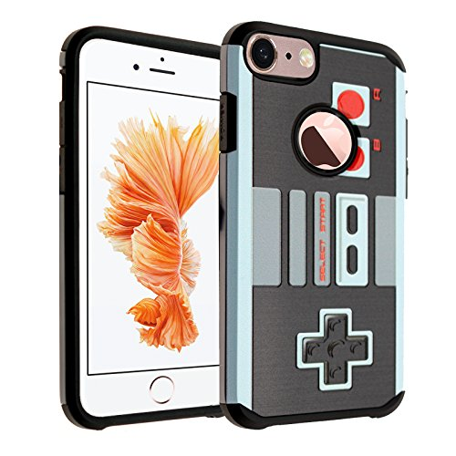 iPhone 7 Case, DURARMOR Vintage Nintendo NES Game Controller Case Hybrid Bumper ShockProof Slim Fit Armor Air Cushion Defender Drop Protection Cover Case for iPhone 7 4.7 inch, NES