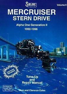 mercruiser stern drive shop manual 1995 1997 alpha one bravo one rh amazon com Bravo 1 Prop Mercury Bravo 3 Generation 1 Propeller
